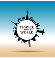 travel around the world with history building vector image