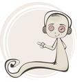 Cartoon of a cute ghost vector image