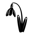 dead flower icon simple black style vector image