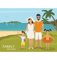 Happy family vacations flat design vector image