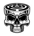 a skull with labyrinth in the head vector image vector image