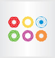 abstract circle logo business icons set collection vector image
