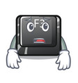 afraid button f3 in shape cartoon
