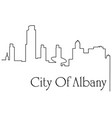 albany city one line drawing vector image vector image