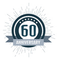 Anniversary logo 60th Anniversary 60 vector image vector image
