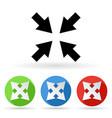 arrows icon colored set of center arrow signs vector image vector image