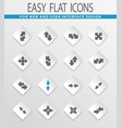 arrows icons set vector image vector image