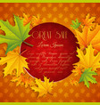 autumn sale natural template vector image