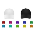 baseball cap set vector image