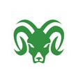 bighorn sheep ram head front icon vector image