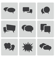 black speech bubble icons set vector image vector image