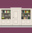 book wooden cabinet vector image vector image