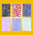 bright triangle pattern set with grunge efect vector image vector image