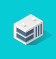 building icon isometric style vector image
