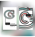 Business card design with letter c vector image