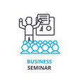 business seminar concept outline icon linear vector image vector image