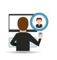 businessman community social network vector image