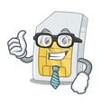 businessman simcard in a character shape vector image