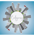 Calgary Skyline with Gray Buildings vector image