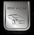 car rental metal banner vector image