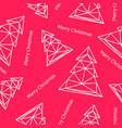 christmas tree triangle shape seamless pattern vector image