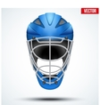 Classic blue Goalkeeper Hockey field Helmet vector image vector image