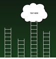 cloud on ladder set on green background vector image