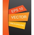 Colorful abstract paper design template EPS 10 vector image vector image