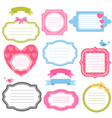 colorful frames and stickers for scrapbooking vector image