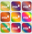 Computer keyboard and mouse Icon Nine buttons vector image vector image