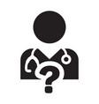 doctor consultation icon male person profile vector image