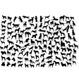 Dog silhouettes vector | Price: 1 Credit (USD $1)