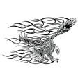 eagle fire head flame logo template design vector image vector image