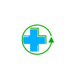 fast medical logo design template vector image vector image