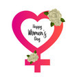 female gender symbol happy women day vector image vector image