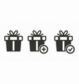 gift box surprise icon vector image vector image