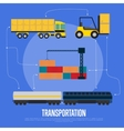 Global transportation and logistics banner vector image vector image