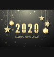golden christmas ball and stars new year vector image vector image