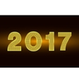 Happy New Year 2017 background Gold vector image vector image