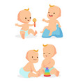 infant babies communication vector image