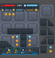 Interface buttons set for space games
