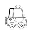 line tractor farm vehicle plant transport vector image vector image