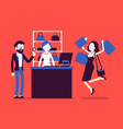 man paying for shopping vector image