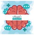 mental health day human brain speech bubbles vector image vector image
