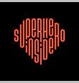 modern super hero inside lettering great design vector image vector image