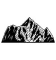 mountain in engraving style design element vector image vector image
