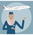Muslim Woman Stewardess vector image vector image