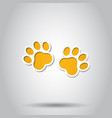 paw print animal icon on isolated background vector image vector image