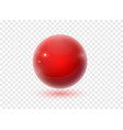 red sphere with shadow on transparent background vector image vector image