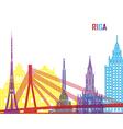 Riga skyline pop vector image vector image